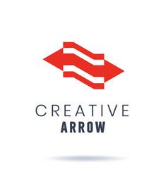 arrow creative logo abstract business logo vector image