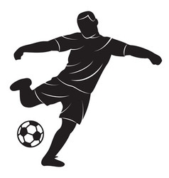 Soccer player on white background vector image vector image
