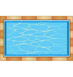 Top view of swimming pool vector image vector image