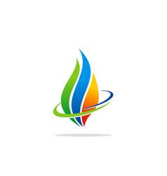 eco bio fire gas logo vector image
