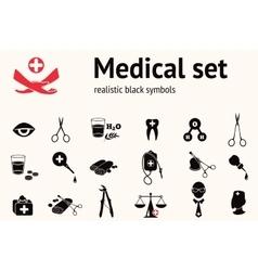 Medical icon set Health and medicine tool symbols vector image