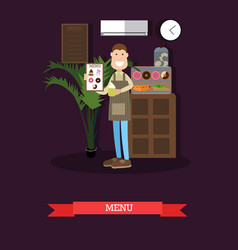 menu concept in flat style vector image