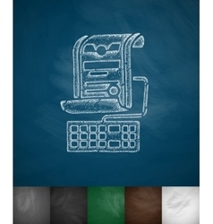 Online lecture icon vector