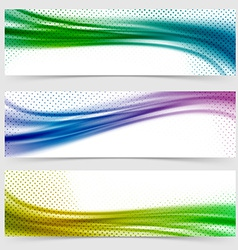 Soft smooth abstract bright wave line header vector image vector image
