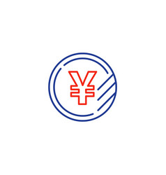 yen coin icon financial currency exchange vector image