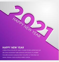 2021 happy new year logo text design vector