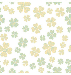 Abstract seamless pattern with shamrock vector