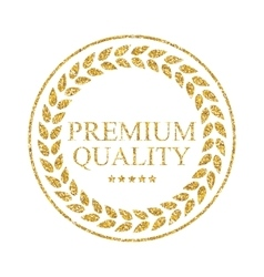 Art Golden Medal Icon Sign Premium Quality vector image