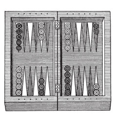 Backgammon vintage vector