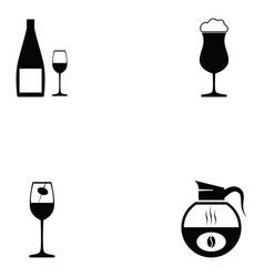 beverage icon set vector image