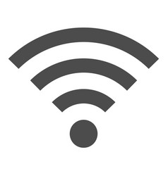 black wifi sign icon flat style vector image