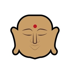 Buddha icon Indian Culture design graphic vector image
