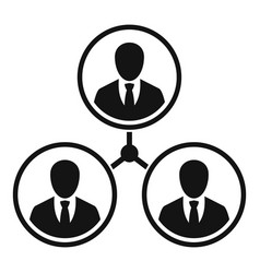 business people relation icon simple style vector image