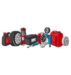 Car service auto center repair vector