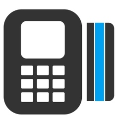 Card Processor Icon vector image