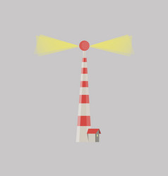 cartoon flat lighthouses searchlight tower for vector image