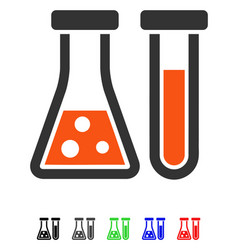 chemistry flat icon vector image
