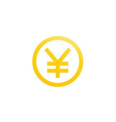 chinese yuan symbol vector image