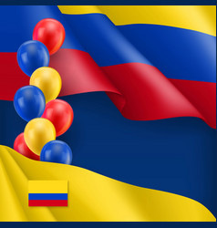 Colombian patriotic background with space for text vector