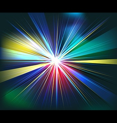 Colorful rays explosion futuristic technology vector