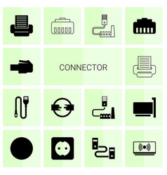 connector icons vector image