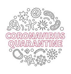 Coronavirus quarantine outline round vector