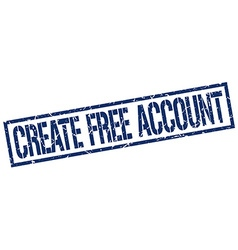 create free account stamp vector image