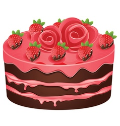 Decorated Chocolate Cake vector