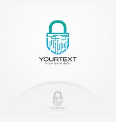 Digital security logo vector