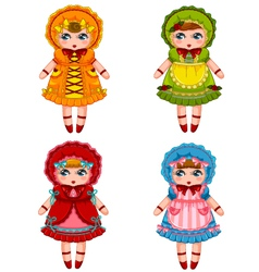 Dolls collection vector