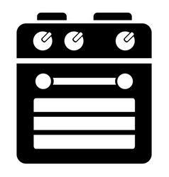electrical stove icon simple style vector image