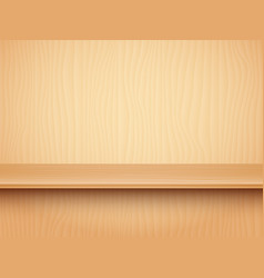 Empty wooden shelf vector