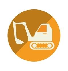 excavator vehicle isolated icon vector image
