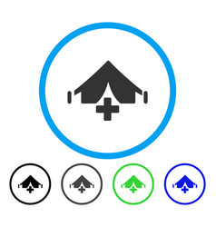 Field hospital rounded icon vector