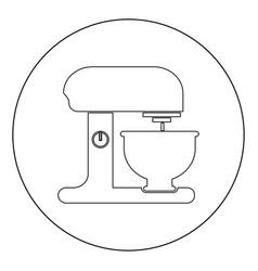 food processor icon black color in circle vector image
