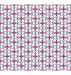 geometric flower floral seamless pattern vector image