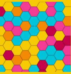 geometric pattern with hexagons vector image