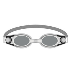 Goggles flat on white vector