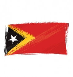 Grunge East Timor flag vector