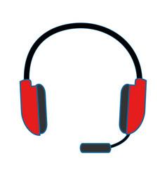 Headset icon imag vector