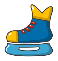 Ice hockey skates icon cartoon style vector