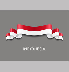Indonesian flag wavy ribbon background vector