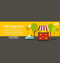Kids playground banner horizontal concept vector
