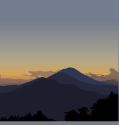 kintamani bali sunrise vector image