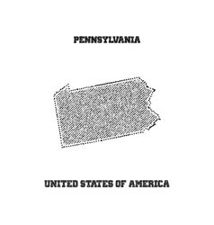 Label with map of pennsylvania vector image