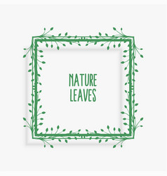 leaves frame design with text space vector image