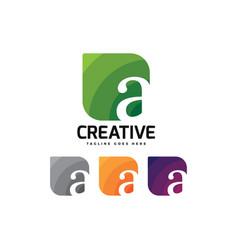 letter a logo colorful design vector image