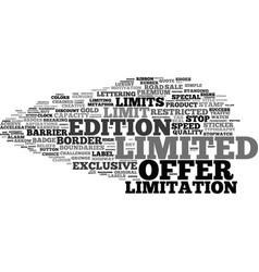 Limitation word cloud concept vector