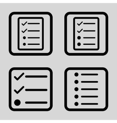 List Items Flat Squared Icon vector