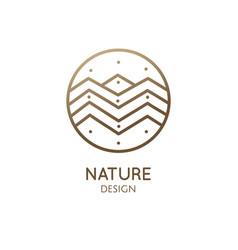 Logo mountain abstract landscape vector